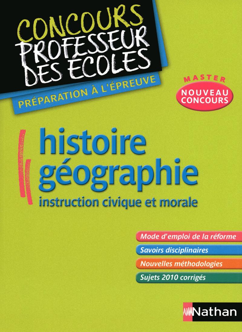 Histoire Géographie Instruction civique et morale
