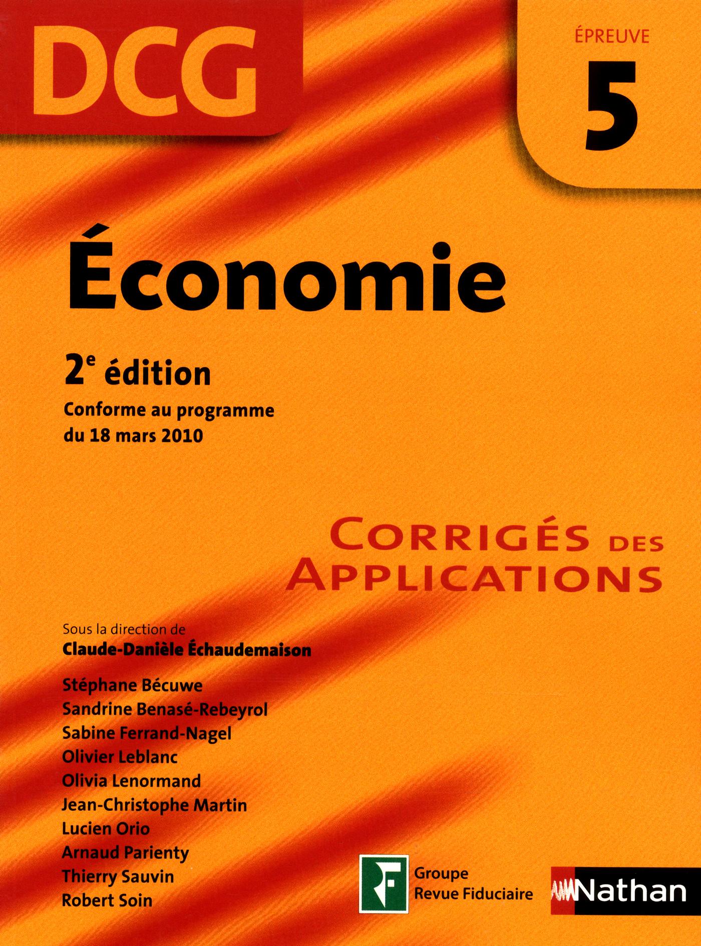 Economie - épreuve 5 - DCG corrigés (ebook)
