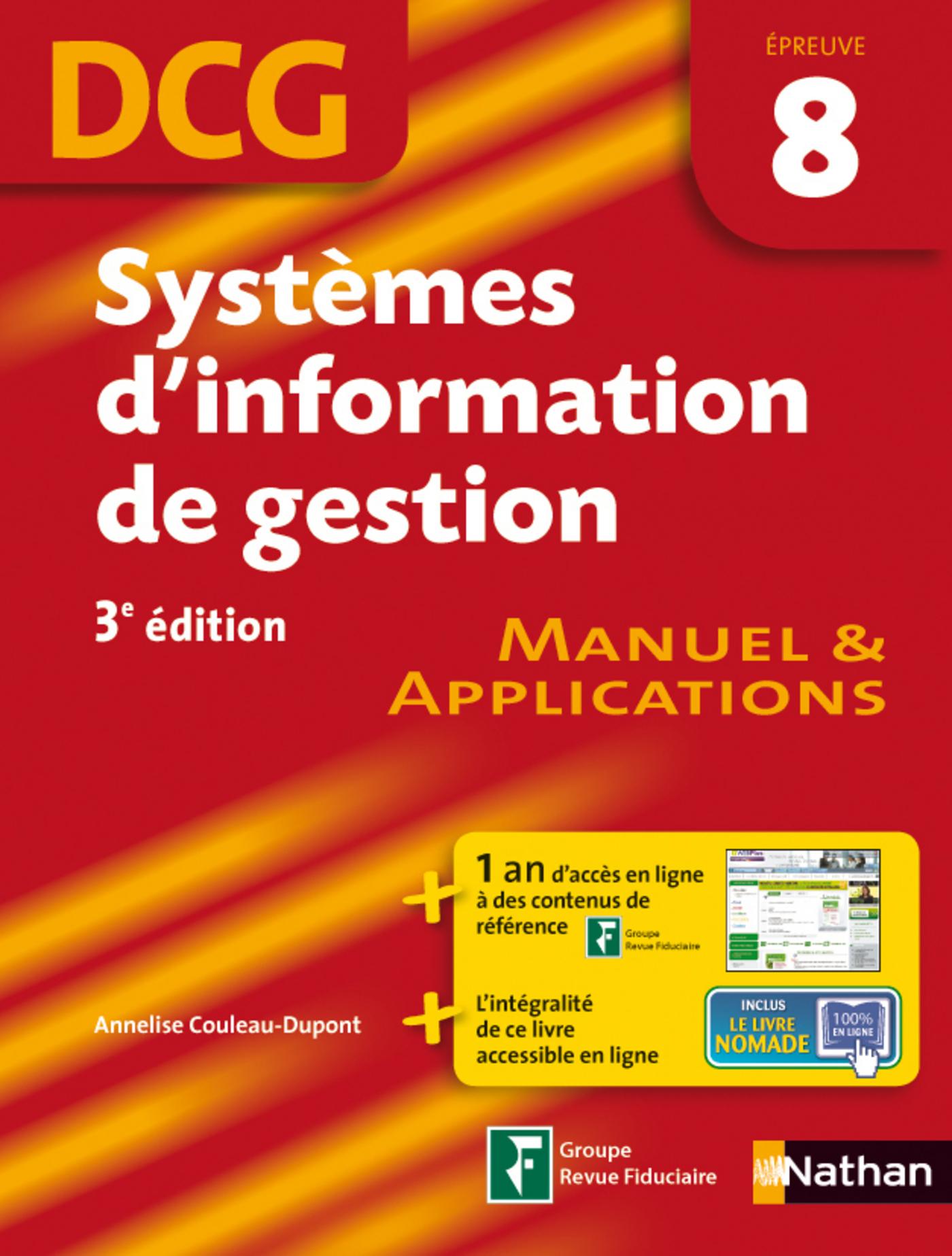 Systèmes d'information de gestion épreuve 8 DCG Manuel et Applications