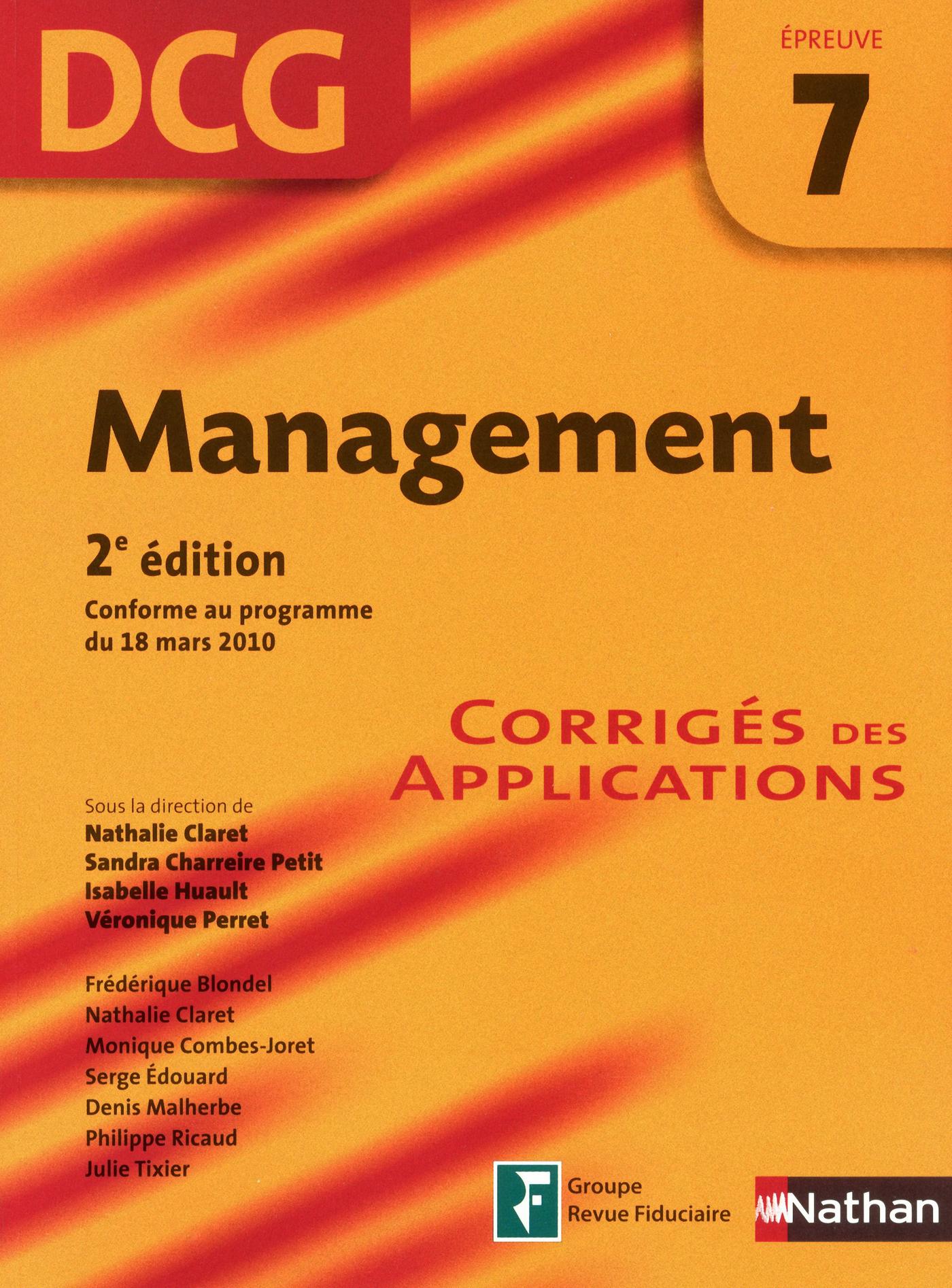 Management - épreuve 7 - DCG corrigés (ebook)