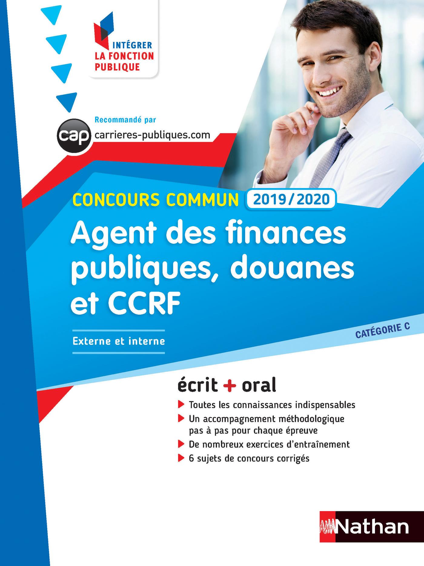 Agent des finances publiques, des douanes et de la CCRF - Ecrit + Oral - Catégorie C - Concours Comm