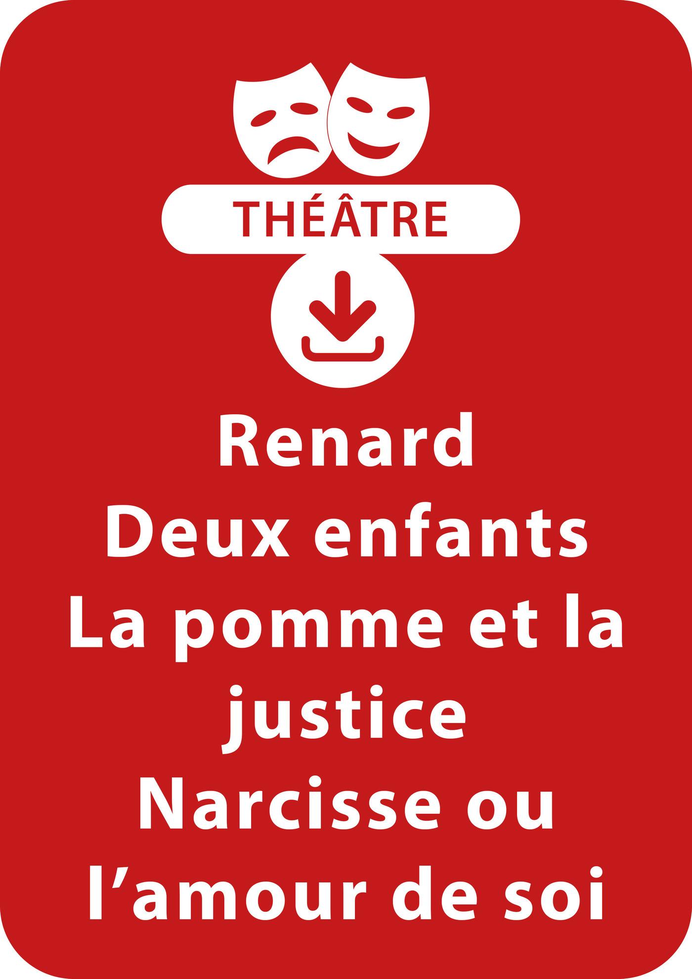 Renard, deux enfants, la pomme et la justice + Narcisse ou l'amour de soi (ebook)