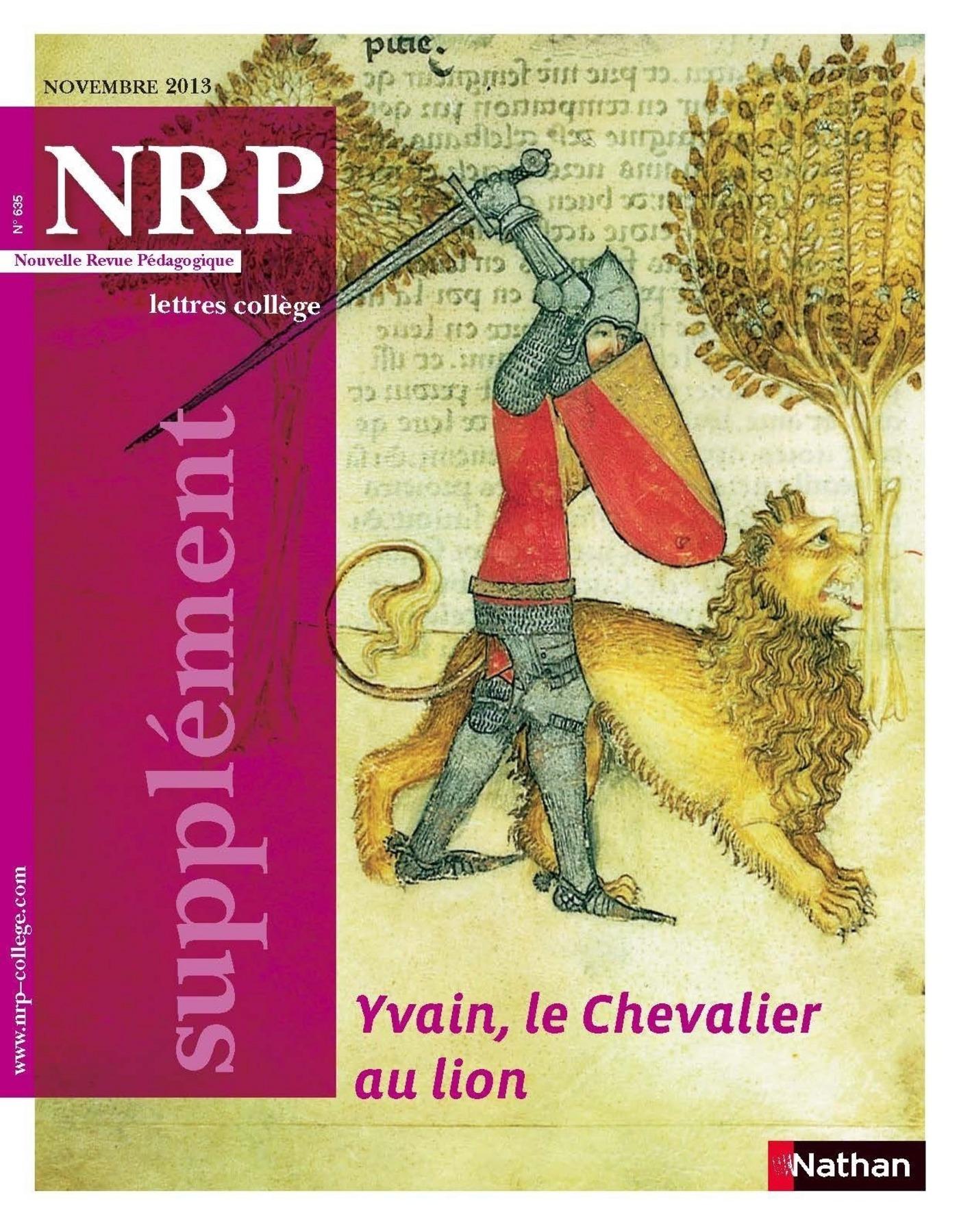 NRP Supplément Collège - Yvain, le Chevalier au lion - Novembre 2013 (Format PDF)