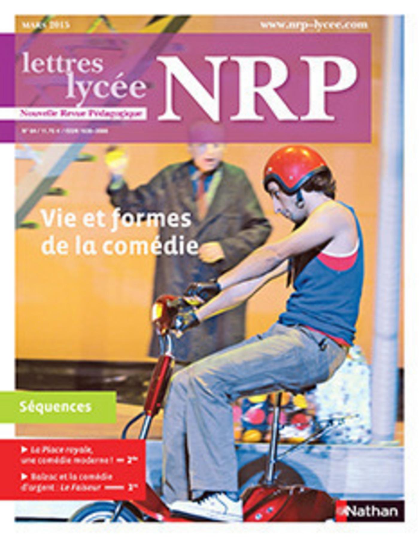 NRP Lycée - Vie et formes de la comédie - Mars 2015 (Format PDF)