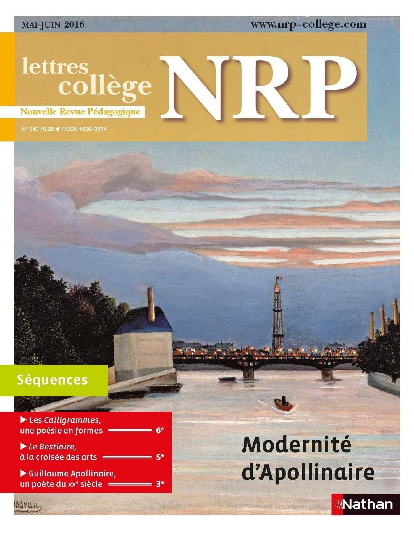 NRP Collège - Modernité d'Apollinaire - Mai-Juin 2016 (Format PDF)