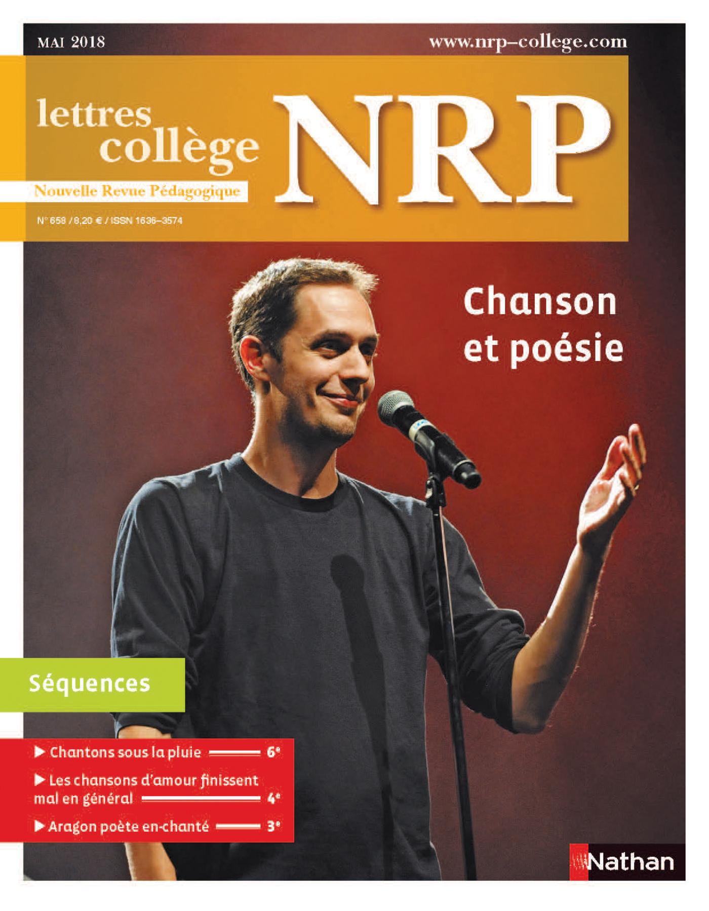 NRP Collège - Chanson et poésie - Mai-Juin 2018 (Format PDF)