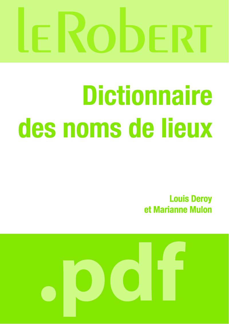 Dictionnaire des noms de lieux