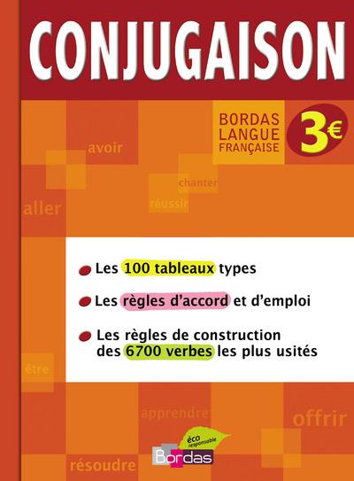BORDAS LANGUE FRANCAISE - CONJUGAISON