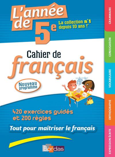 L'ANNEE DE 5E CAHIER DE FRANCAIS