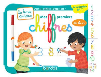 MES PREMIERS CHIFFRES (AVEC 1 FEUTRE EFFACABLE 2 COULEURS) - LES LIVRES-ARDOISES