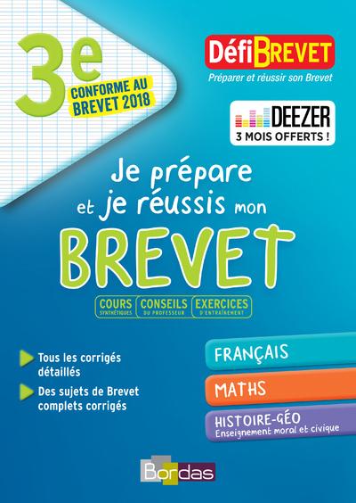 DEFIBREVET - JE PREPARE ET JE REUSSIS MON BREVET 3E