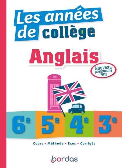 LES ANNEES DE COLLEGE ANGLAIS