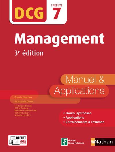 MANAGEMENT - DCG EPREUVE 7 - MANUEL ET APPLICATIONS 2017