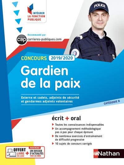 CONCOURS GARDIEN DE LA PAIX 2019/2020 - CATEGORIE B (INTEGRER LA FONCTION PUBLIQUE) - 2018 NUMERO 17