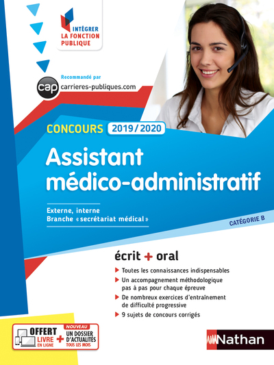 CONCOURS ASSISTANT MEDICO-ADMINISTRATIF 2019/2020 - CATEGORIE B - N° 24 -(IFP) - 2018