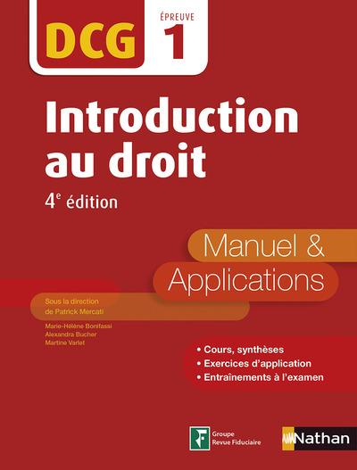 INTRODUCTION AU DROIT - MANUEL ET APPLICATIONS - DCG 1  (E-PUB 2) - 2016