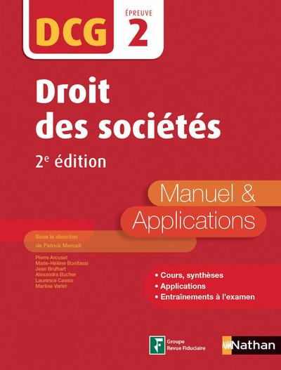 DROIT DES SOCIETES - DCG EPREUVE 2 - MANUEL & APPLICATIONS 2ED