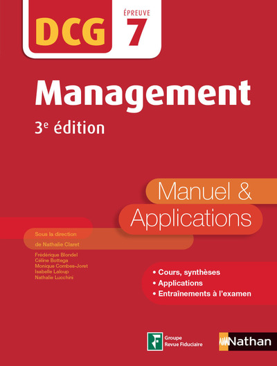MANAGEMENT - DCG EPREUVE 7 - MANUEL & APPLICATIONS3ED