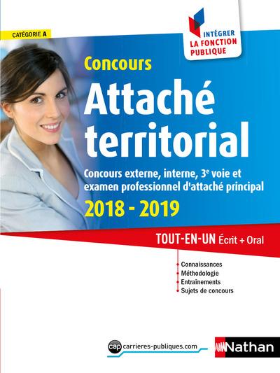 CONCOURS ATTACHE TERRITORIAL 2018/2019 NUMERO 40 CATEGORIE A (INTEGRER LA FONCTION PUBLIQUE)