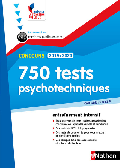 TESTS PSYCHOTECHNIQUES - 750 QCM 2019/2020 - CATEGORIES B ET C NUMERO 43 (IFP) - 2018