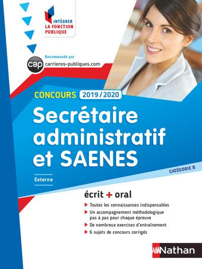 CONCOURS SECRETAIRE ADMINISTRATIF ET SAENES 2019-2020 - CAT B NUMERO 1 (IFP) - 2018