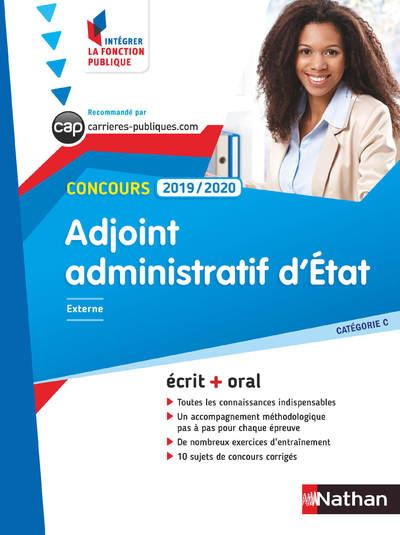 CONCOURS ADJOINT ADMINISTRATIF D'ETAT 2019-2020 - NUMERO 2 CATEGORIE C (IFP) - 2018