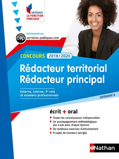 CONCOURS REDACTEUR TERRITORIAL ET REDACTEUR PRINCIPAL NUMERO 57 - CATEGORIE B  (IFP) - 2019