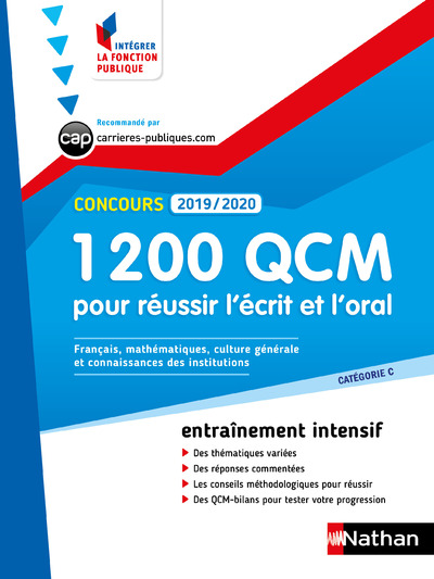 1 200 QCM POUR S'ENTRAINER A L'ECRIT ET A L'ORAL 2019-2020 - NUMERO 5  (IFP) - 2019