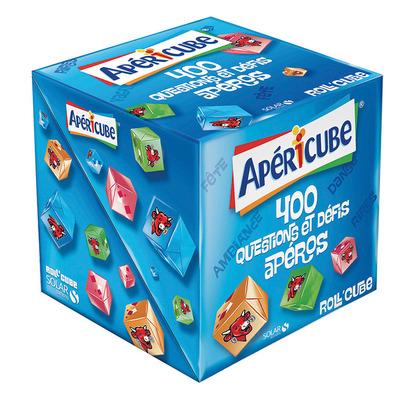 ROLL'CUBE - APERICUBE - 400 QUESTIONS ET DEFIS APERO