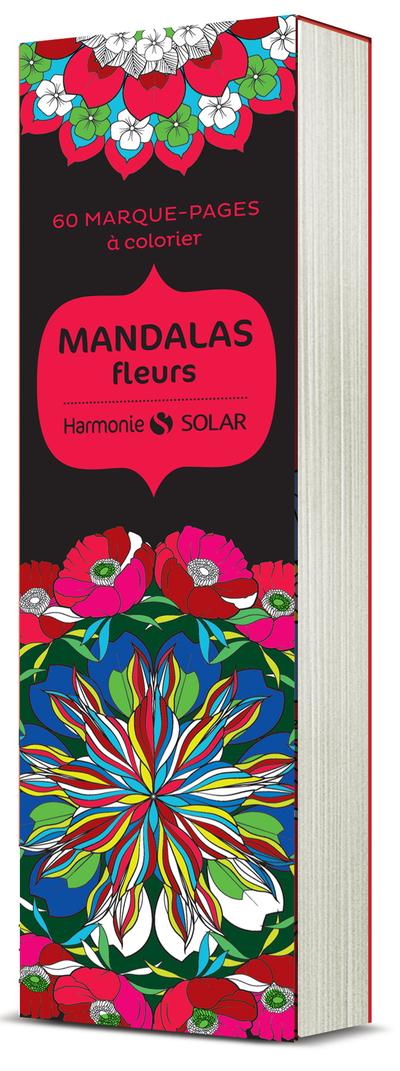60 MARQUE-PAGES A COLORIER - MANDALAS FLEURS