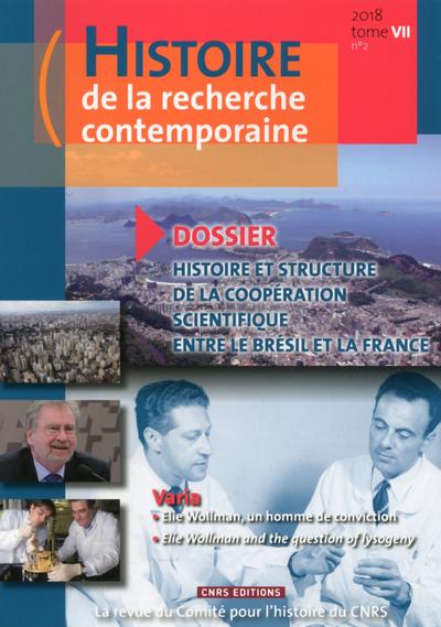 HISTOIRE DE LA RECHERCHE CONTEMPORAINE - TOME 7 NUMERO 2