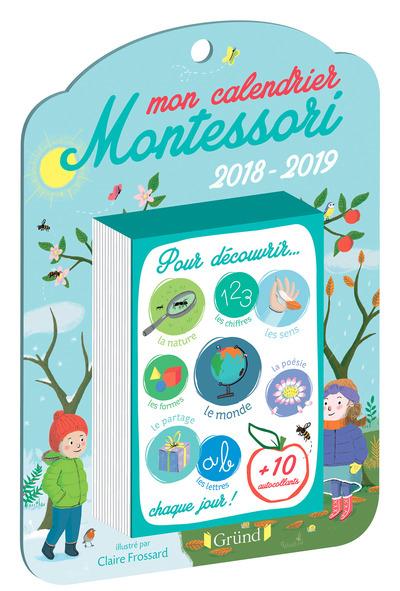 MON CALENDRIER MONTESSORI - ANNEE SCOLAIRE 2018-2019
