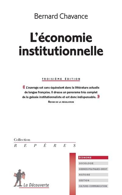 L'ECONOMIE INSTITUTIONNELLE 3E EDITION