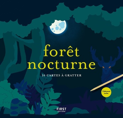 FORET NOCTURNE - 10 CARTES A GRATTER