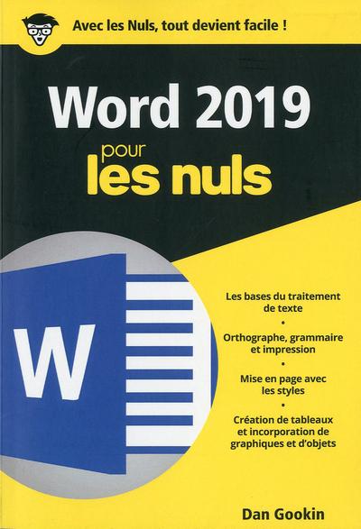 WORD 2019 POCHE POUR LES NULS