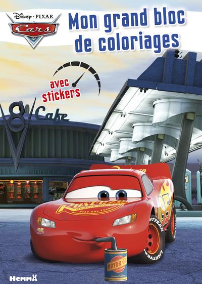 CARS MON GRAND BLOC DE COLORIAGES AVEC STICKERS