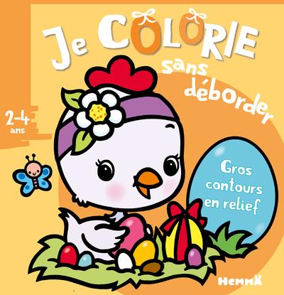 JE COLORIE SANS DEBORDER (2-4 ANS) - PAQUES (POUSSIN)