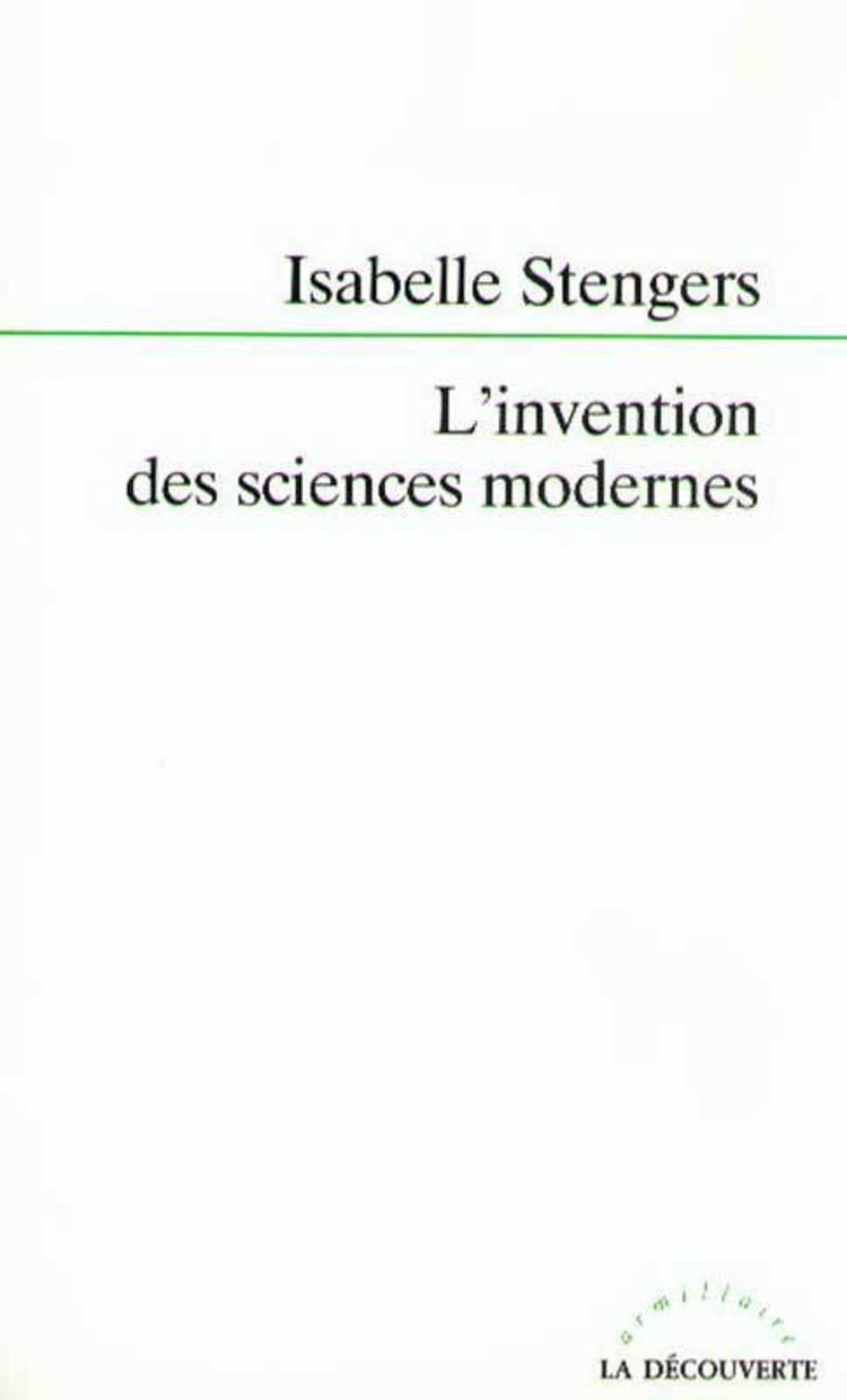 Vignette du livre L'invention des sciences modernes