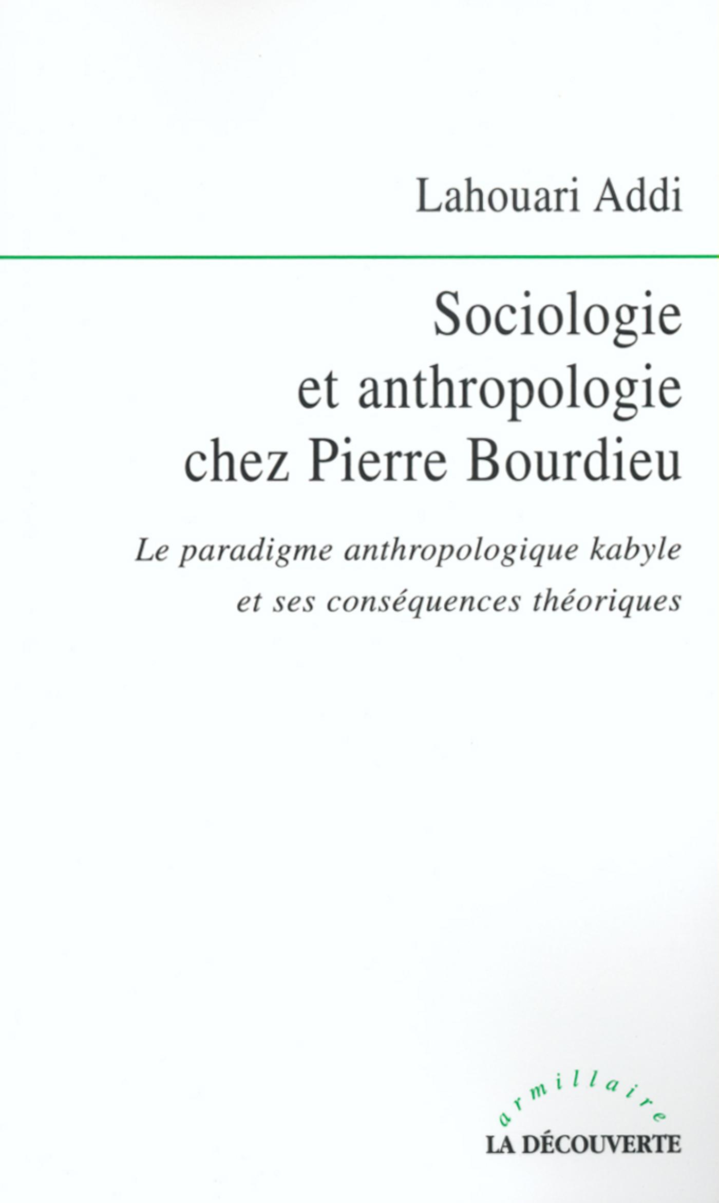 Sociologie et anthropologie chez Pierre Bourdieu (ebook)