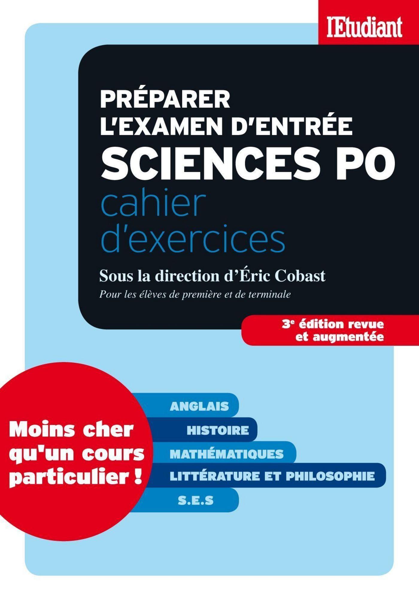 Préparer l'examen d'entrée sciences po - Cahier d'exercices - 3ed revue et augmentée (ebook)