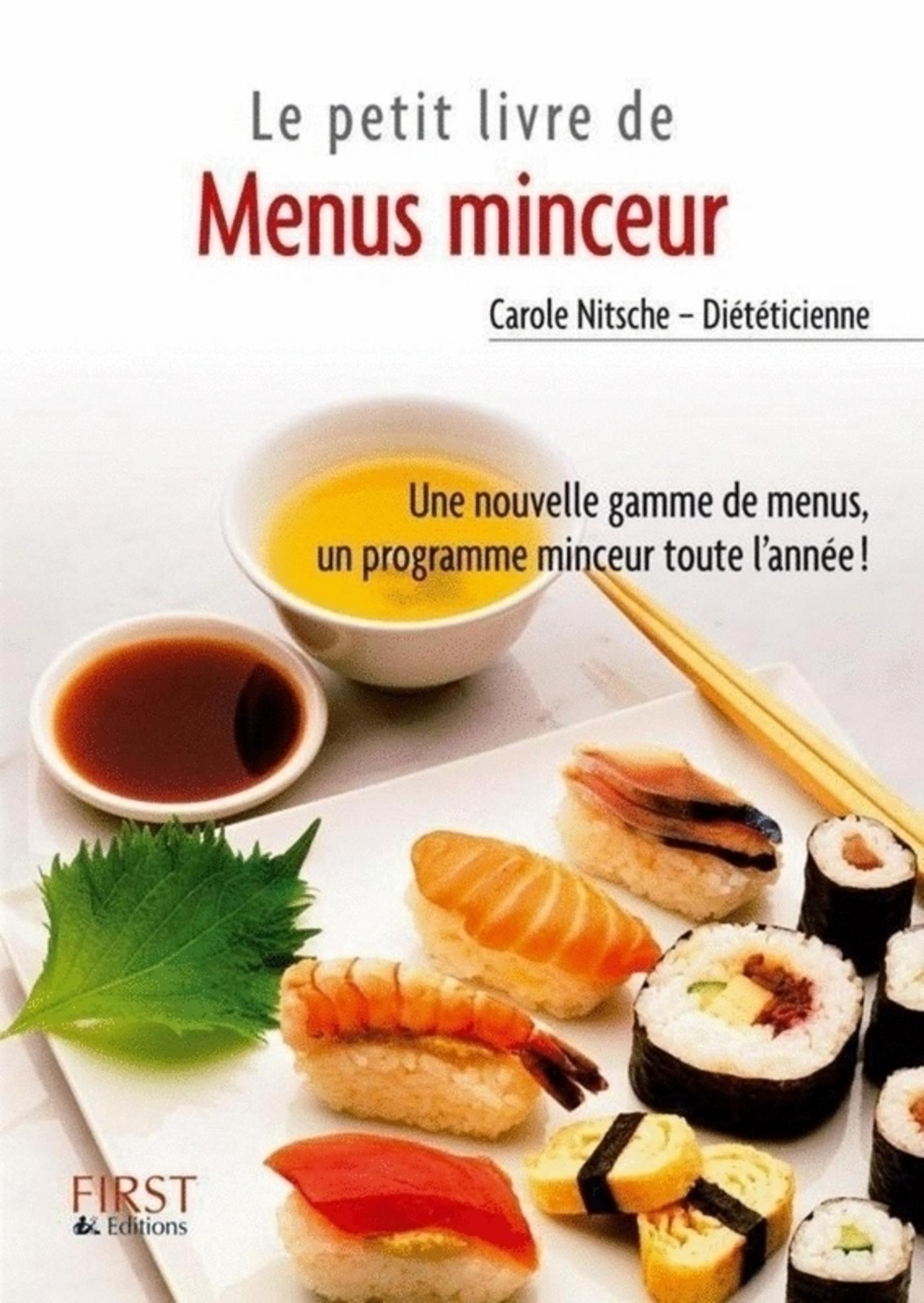 le petit livre de menus minceur tome 2 carole nitsche cuisine et vins. Black Bedroom Furniture Sets. Home Design Ideas