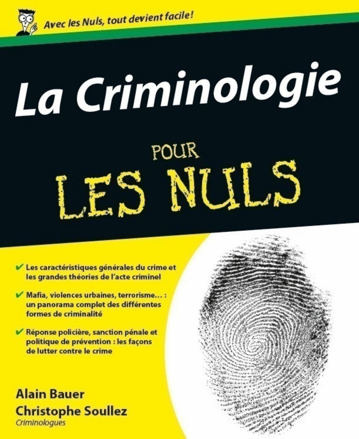 Criminologie Pour les nuls (La)