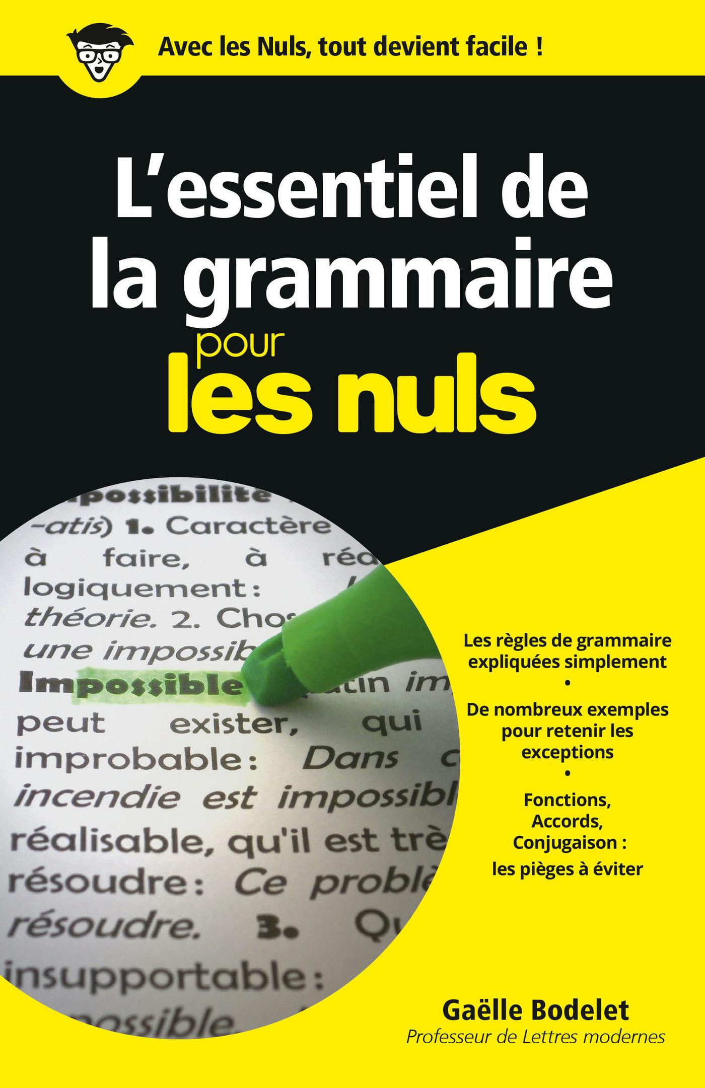 L'essentiel de la grammaire Pour les Nuls (ebook)
