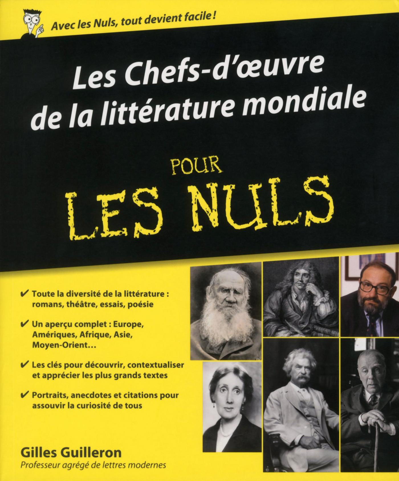 Les chefs-d'œuvres de la littérature mondiale Pour les Nuls (ebook)