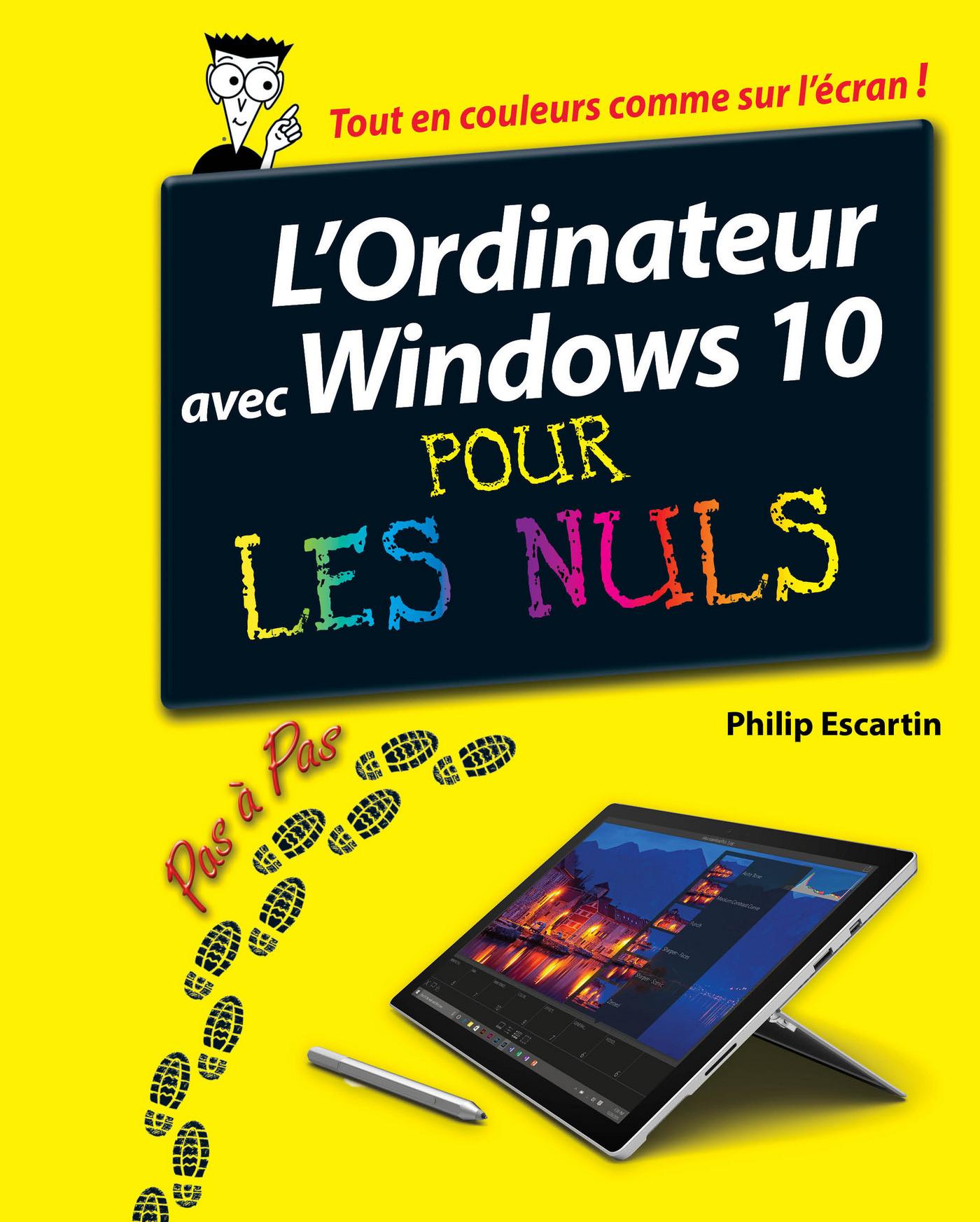 L'Ordinateur avec Windows 10 pas à pas pour les Nuls (ebook)