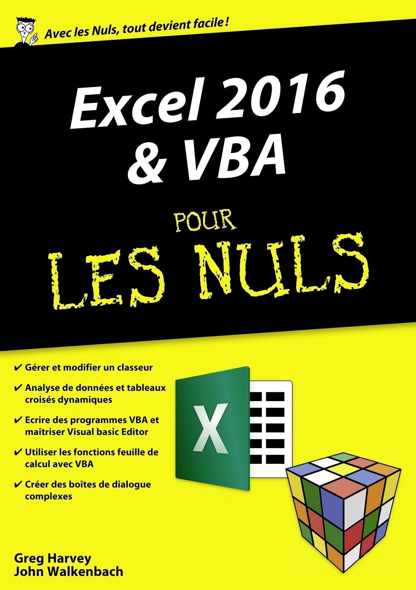 Excel 2016 et VBA pour les Nuls mégapoche (ebook)