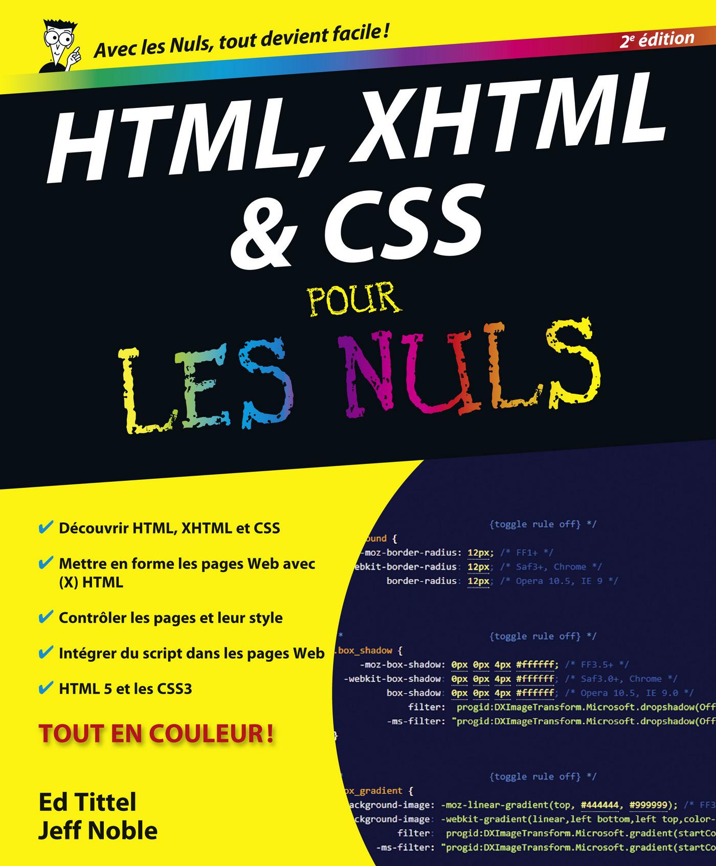 HTML, XHTML et CSS Pour les Nuls (ebook)