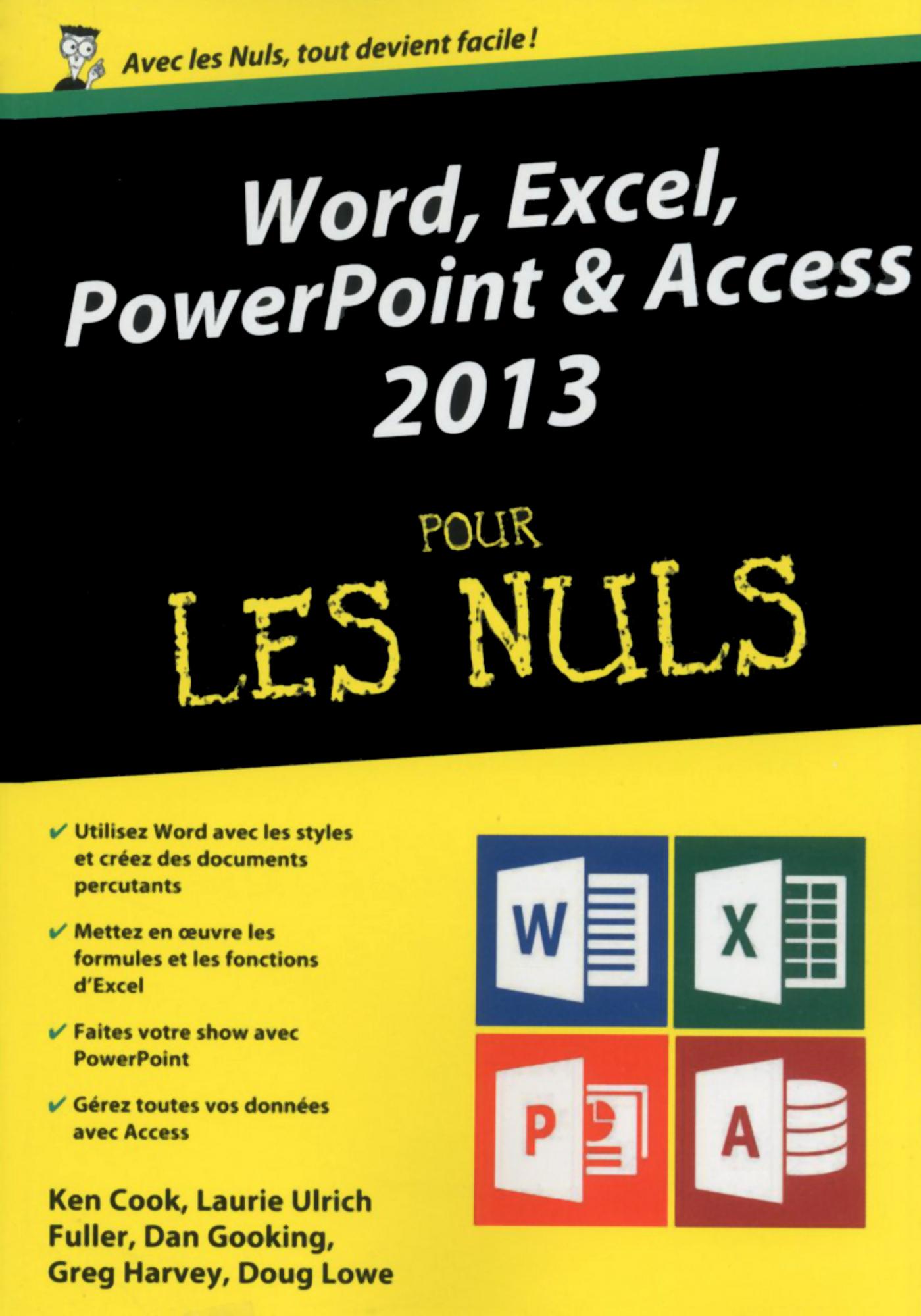 Word, Excel, PowerPoint et access 2013 Mégapoche Pour les Nuls (ebook)