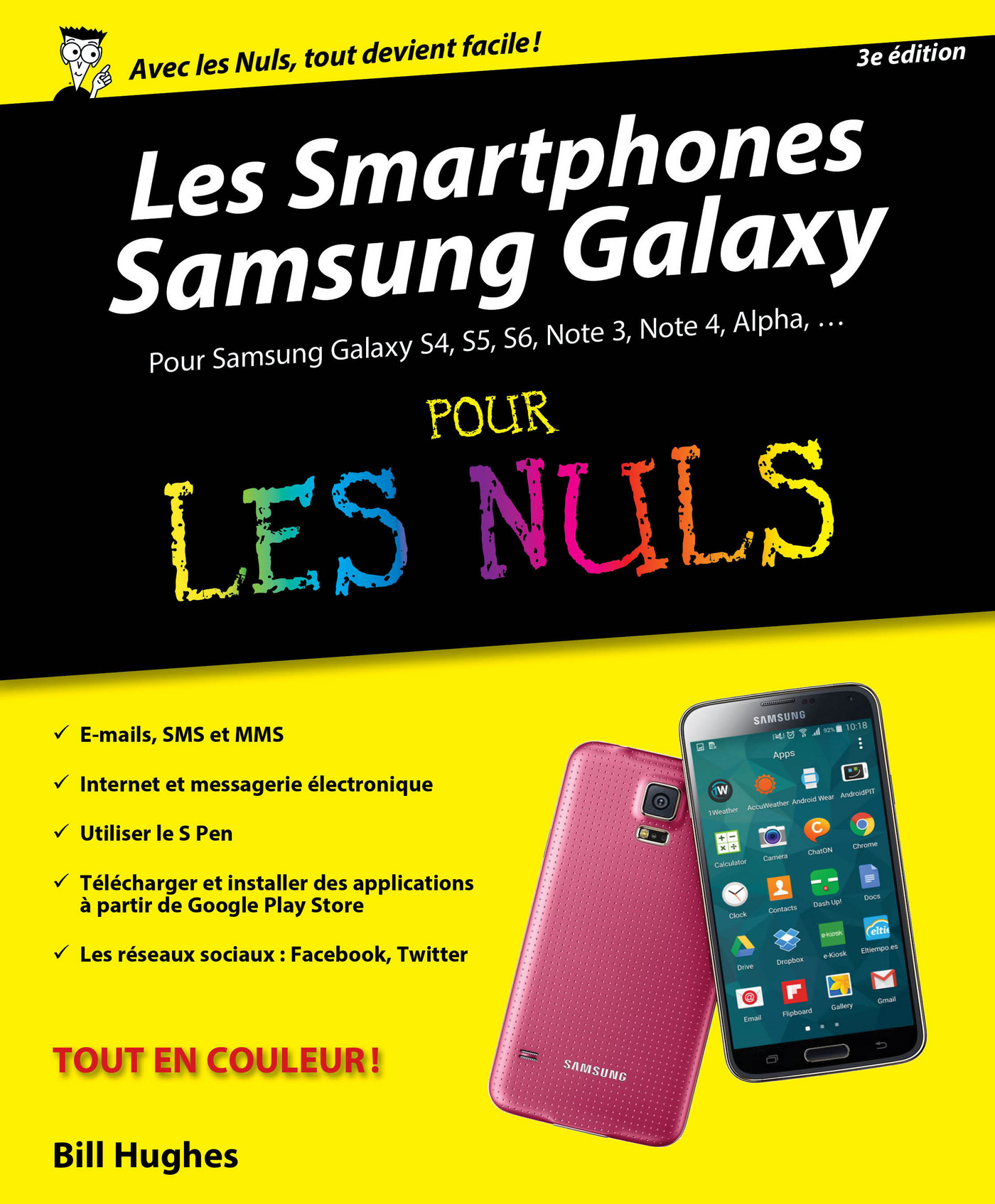 Smartphones Samsung Galaxy Pour les Nuls, 2ème édition (ebook)