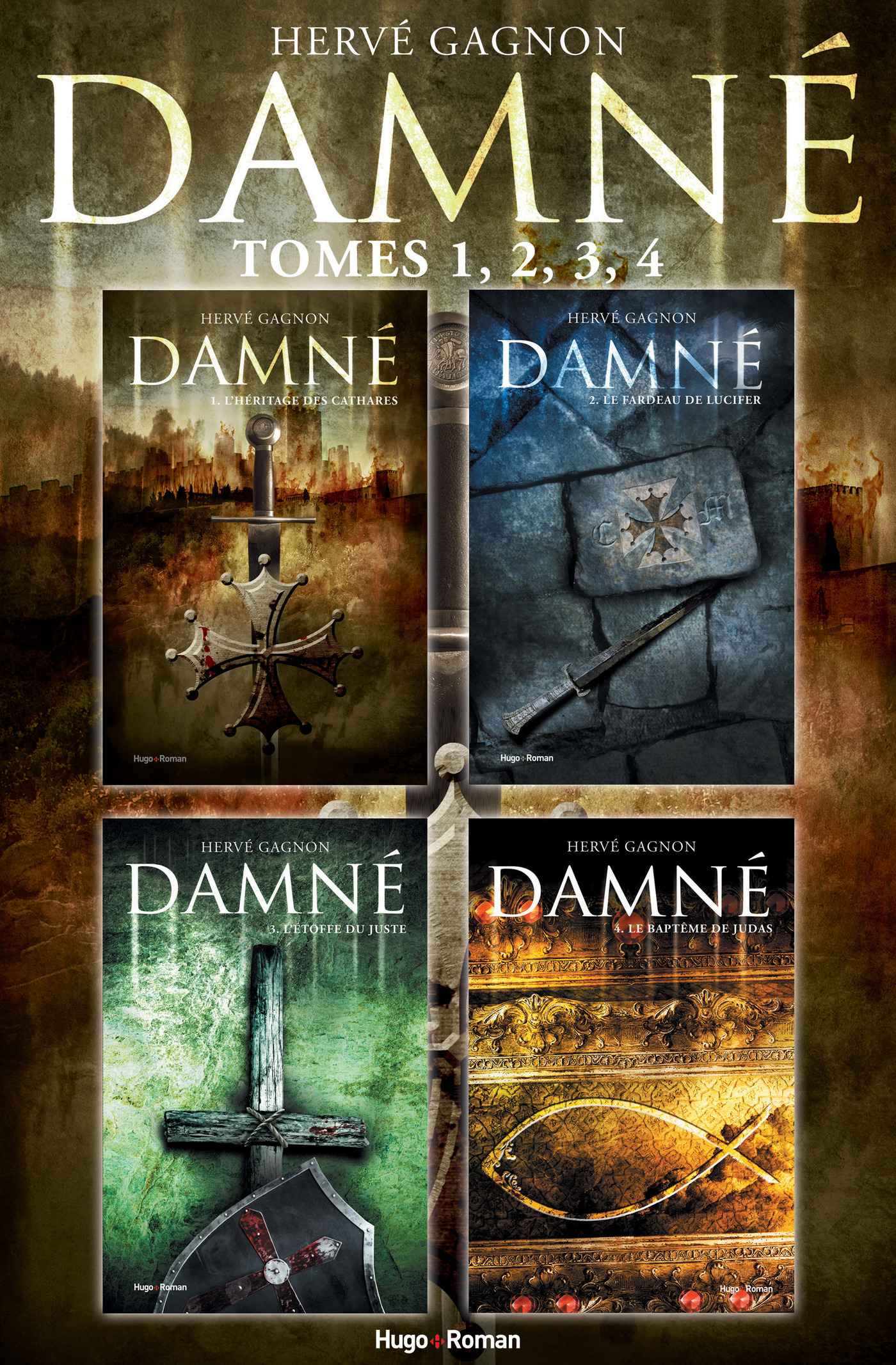 Coffret Damné - tomes 1,2,3,4 (ebook)